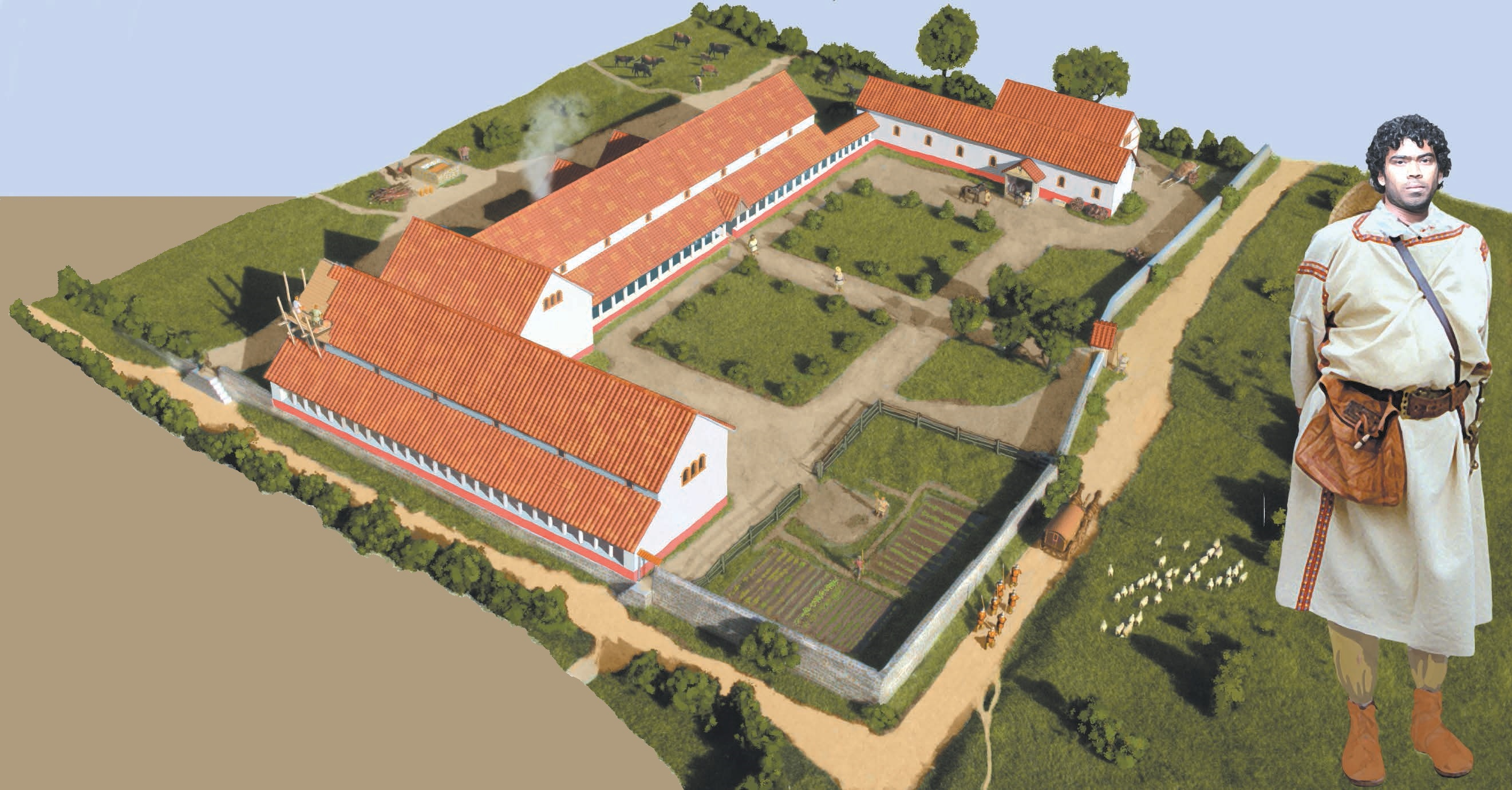Fane Road Roman Villa Artists Impression