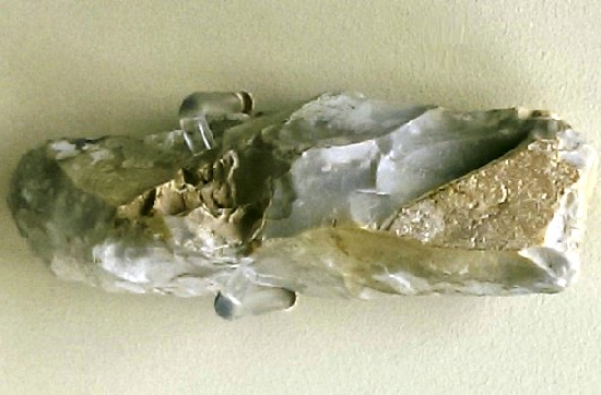 Mesolithic Flint Chisel, Woodwalton Fen (Peterborough Museum)