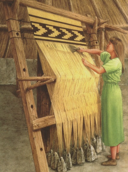 Iron Age Loom - illustration