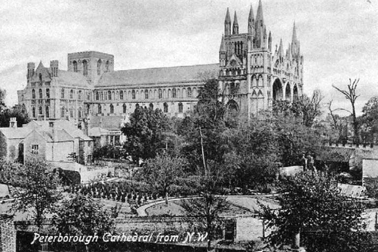 cathedral ecavation area from 1917 postcard