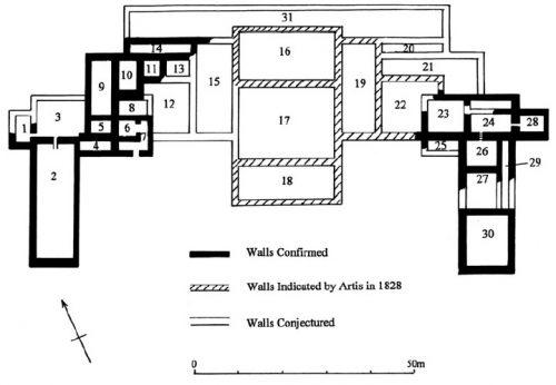 Castor Praetorium Room Layout