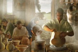 roman pottery making