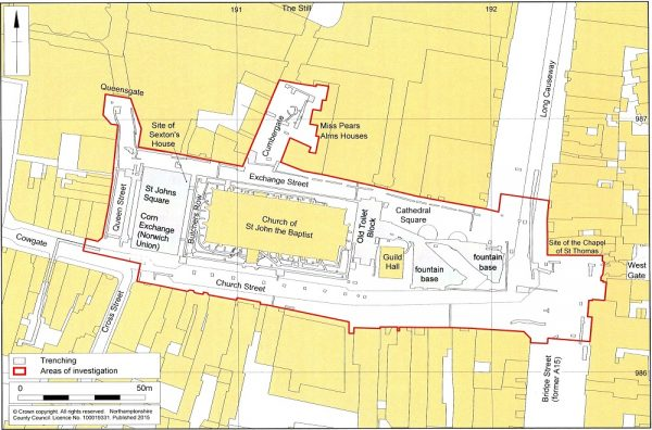 History of Peterborough Cathedral Square - Area Covered
