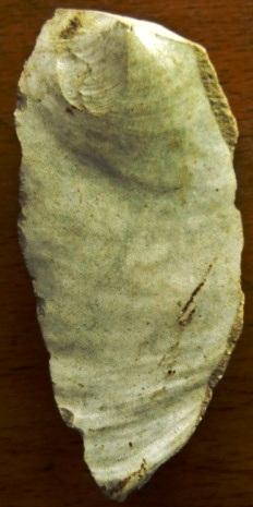 identification of knapped flints - ventral face