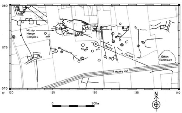 etton causewayed enclosure plan
