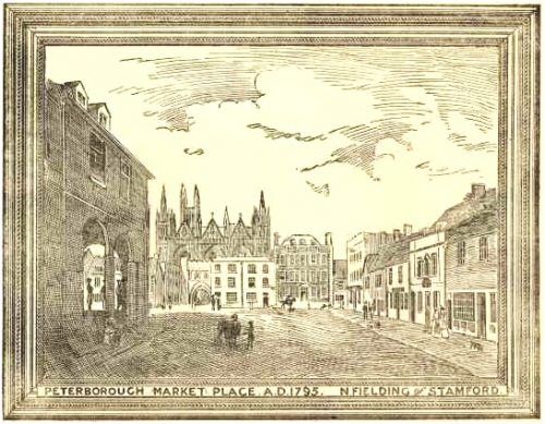 peterborough market place 1795 - fielding