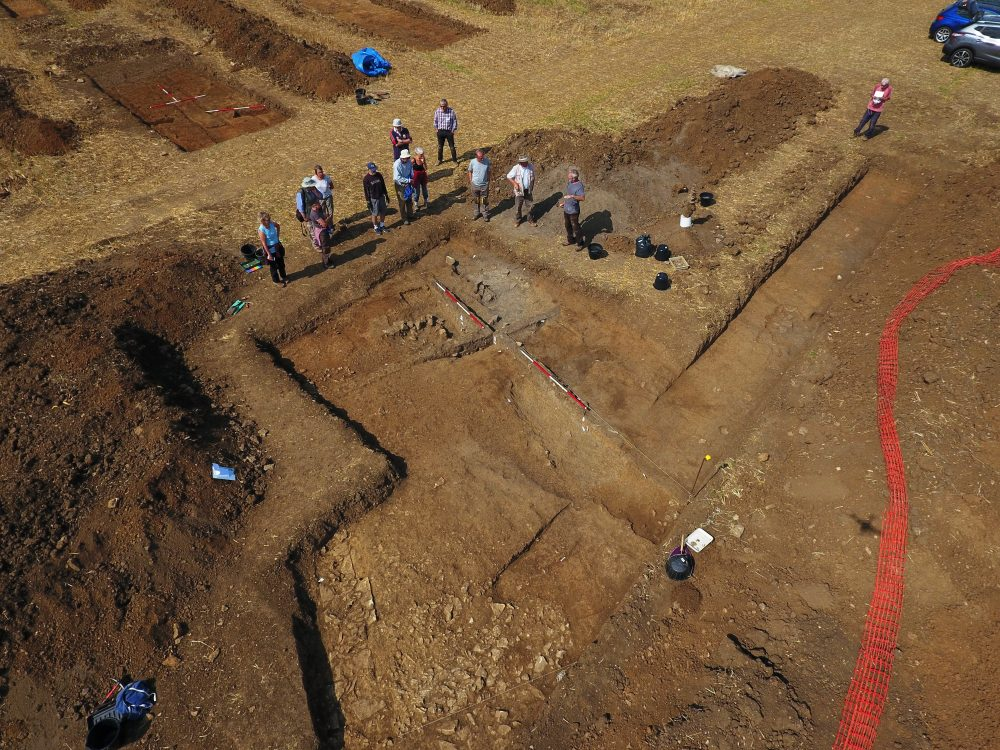nassinton dig 30 aug 2018 - trench 12