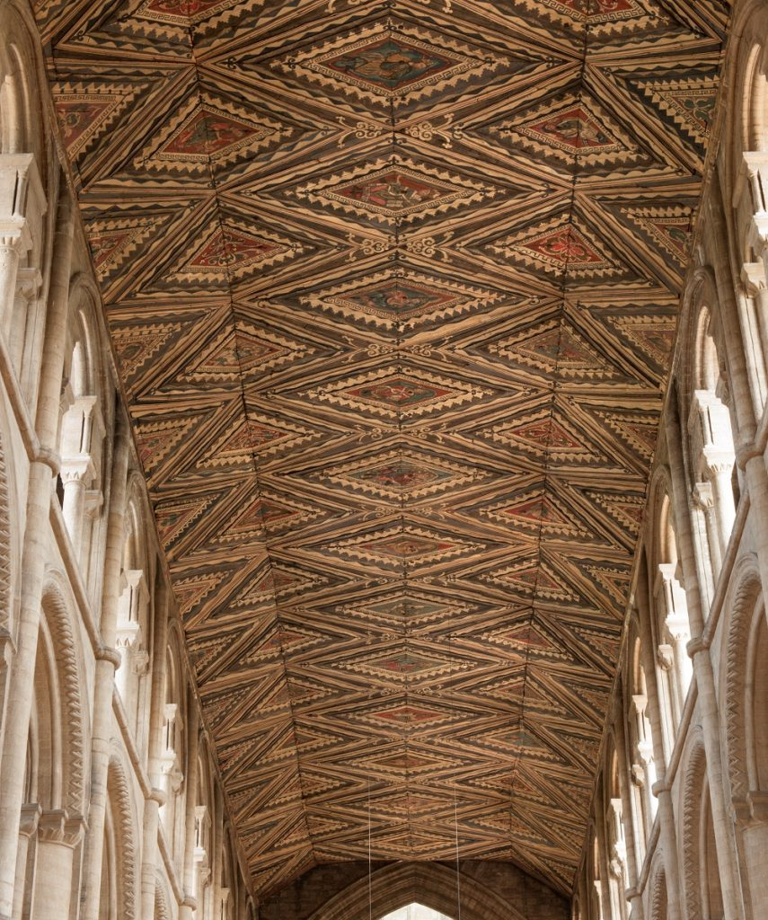 peterborough nave ceiling - oblique