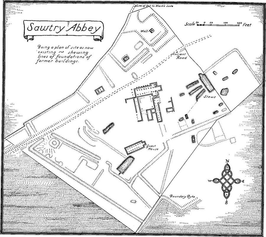 sawtry abbey - site plan