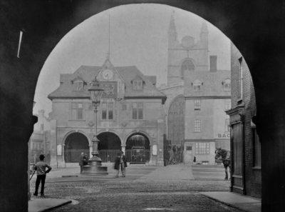 Peterborough Cathedral Square c 1880